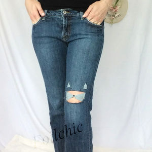 Lucky Brand Kitty Cat Distressed Denim Jeans
